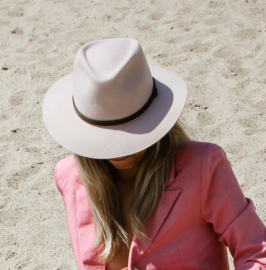 Brasil hoed in 'Pale Pink'