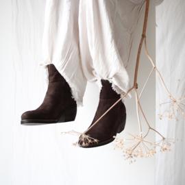 Donna enkel laarzen in 'Chocolate' nubuck