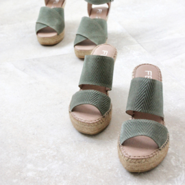Liv Twist espadrille in 'Scandinavian'