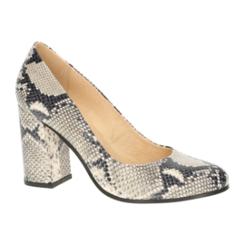 Ysolde pump in  'Black & White' python print
