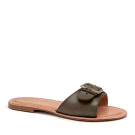 Rachel slipper in 'Olive'