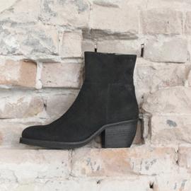 Donna enkellaars in 'Black' nubuck | FELIZ laarzen