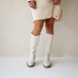 Mila hoge laarzen in 'Off White'