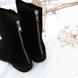 Zohra bohemian boot  'Black' nubuck | FELIZ laarzen