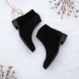Sylvia slanke laars 'Black' suede | FELIZ shoes