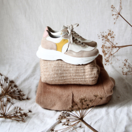 Dacey Chunky sneaker in 'White/ Yellow'