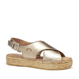 Carina sandal espadrille in metallic 'Bronzo'