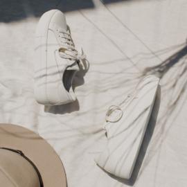 Bria sneaker in 'White' leather