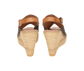 Lynn leo sleehak espadrille in 'Brown'