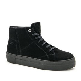 Bo hi top sneaker in 'Black' suede