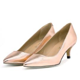 Tiara pump in 'Rose Gold' metallic