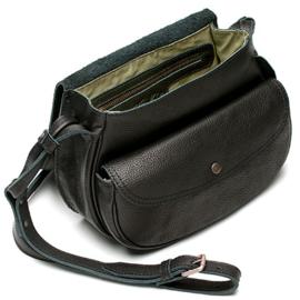 Valerie saddle bag  in 'Black'
