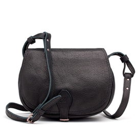 Valerie saddle bag  in 'Black'