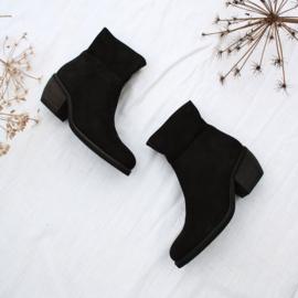 Donna enkel laarzen in 'Black' nubuck