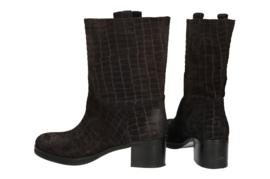 Bonnie Croco laarzen 'Off Black' | FELIZ laarzen