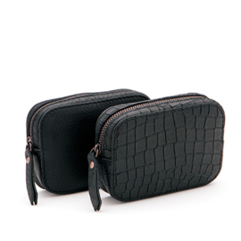 Camera pack in 'Black Croco'