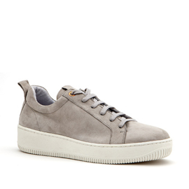 Velvet sneaker in 'Light Grey' suede