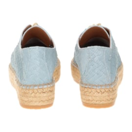 Palma veter espadrille in 'Ice Blue'