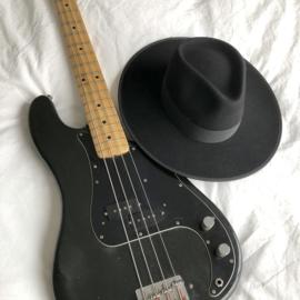 Rancher Fedora hoed  in 'Black'