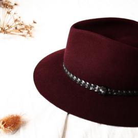 Brasil hoed in 'Burgundy' | vlecht