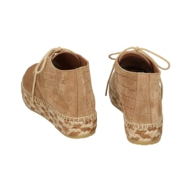 Carly Croco lace-up espadrille in 'Tobacco'