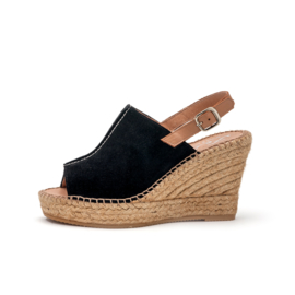 Lynn wedge espadrille in 'Black'