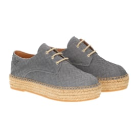 Palma veter espadrille in 'Steel'