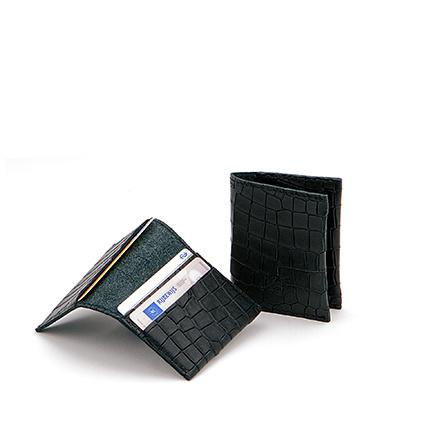 Card fold in 'Black Croco'