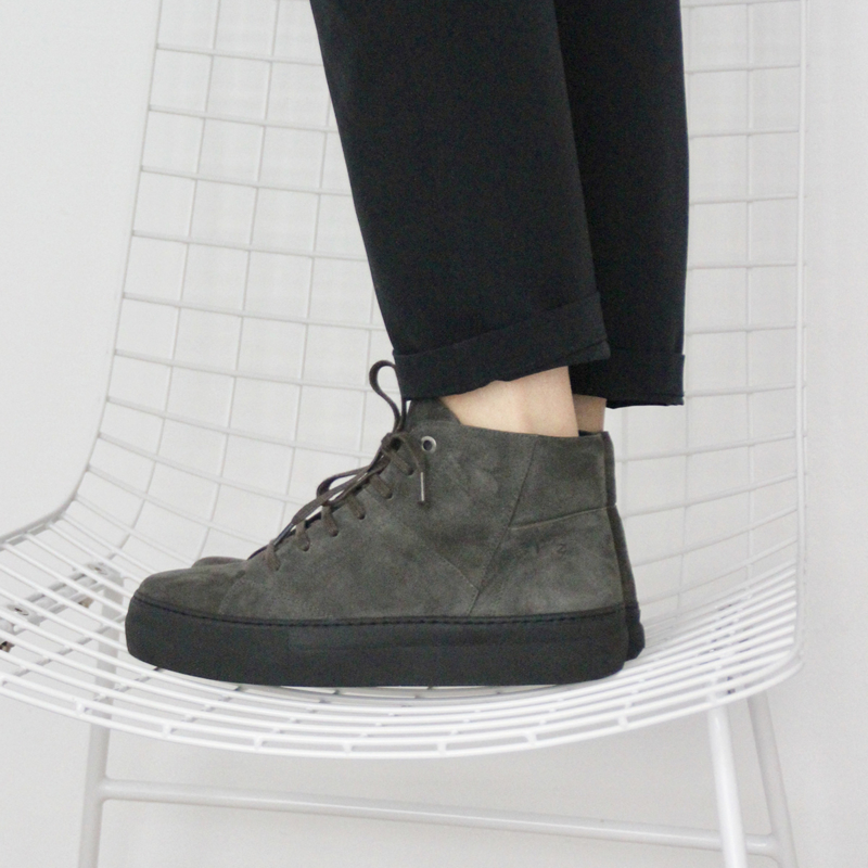 Bo hi top sneaker in 'Catfish' suede