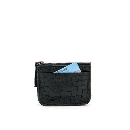 Coin purse in 'Black Croco'