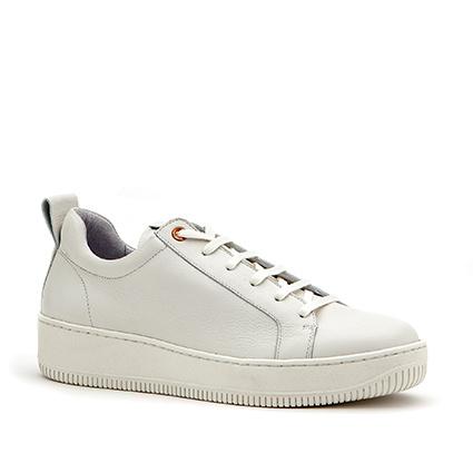 Velvet sneaker in 'White' leer
