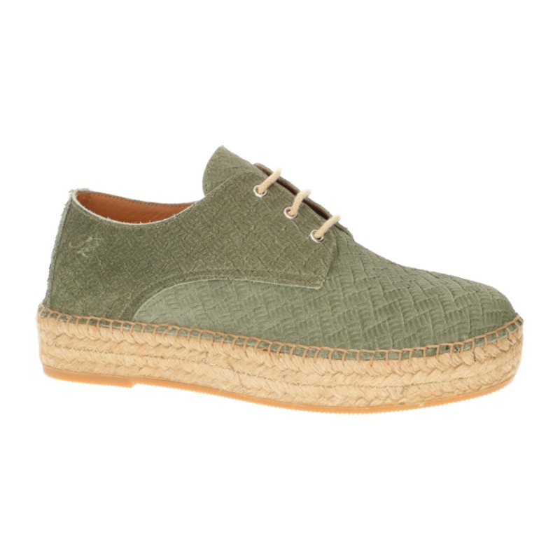 Palma veter espadrille in 'Herb Green'