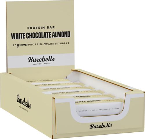 BAREBELLS WHITE CHOCOLATE ALLMOND DOOS 12 STUKS
