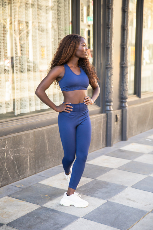 WE ARE FIT SEAMLESS LUX RIB BLUE BRA