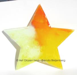 ster in de kleuren van de zon
