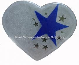 """sculptuur """"hart met sterren"""""""