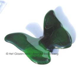 Slanke vlinder in groene kleur