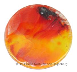 cirkel in vloeiend oranje en geel