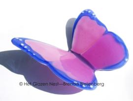 vlinder in roze en lila kleuren