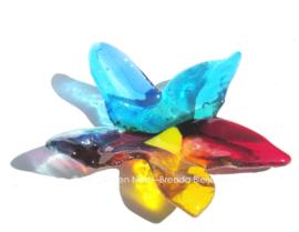 kleurige bloem van glas