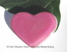 Roze hartje van glas