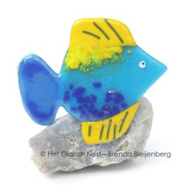 kleurig visje van glas