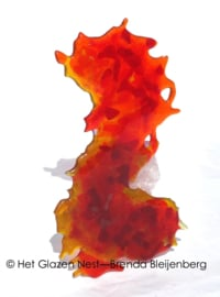 """""""Abstract zeepaardje in glaskunst"""""""