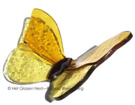 gele vlinder met rechte vleugels