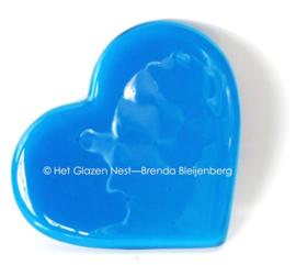 blauw hartje als ornament