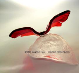 Tomaatrode vlinder op casting