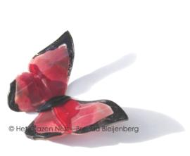 Grote vlinder in roze en rood