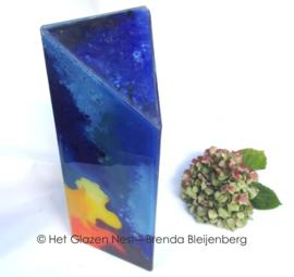"""Zuil urn """"kleurigheid in blauw"""""""