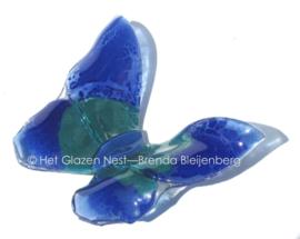 blauwe groene vlinder met spitse vleugels