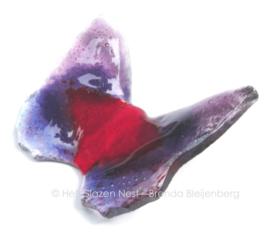 vlindertje in paars en rood